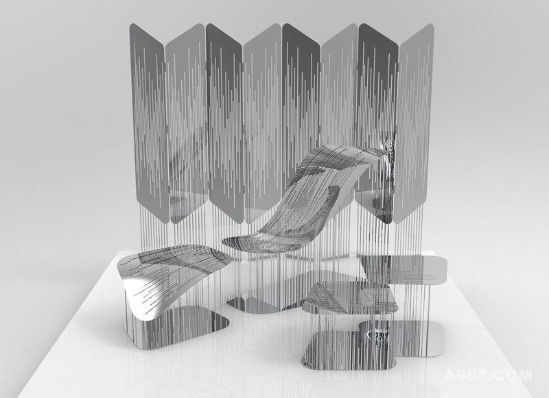 凝固的雨效果图