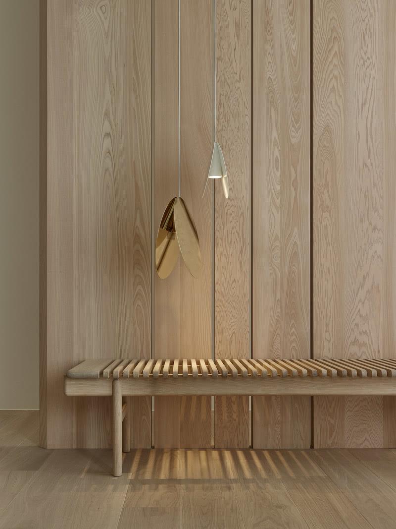 光的序列,依著材質脈絡,不增不減的聚焦、安定