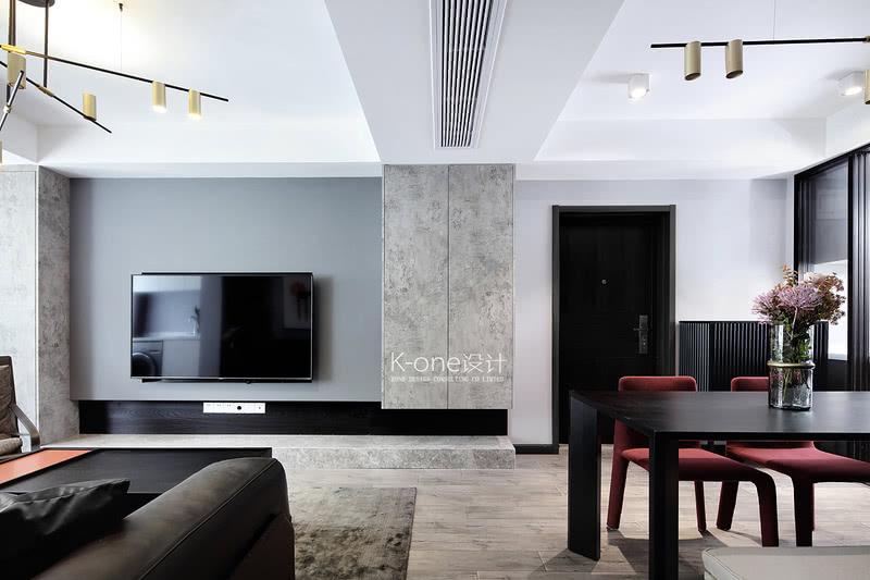 设计在满足功能与舒适的前提下,化繁为简。整体以简约明快出发,以浅白、高级灰、质感黑、几何形等构成现代都市质感风,将都市人的现代生活范儿打造而出。