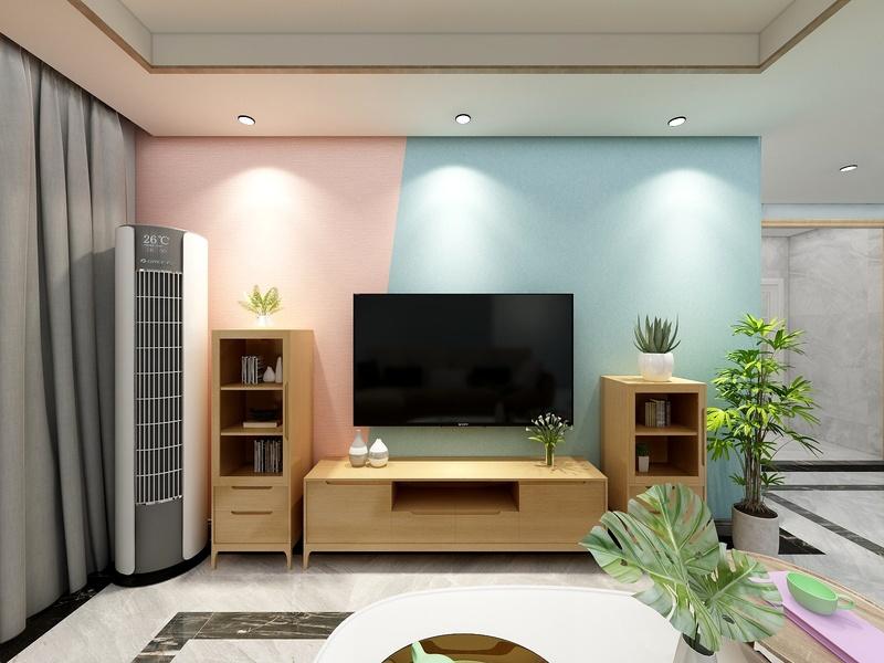 北欧风格的室内空间带给体验者的是一种很纯粹的,清新自然的感觉所以从色彩搭配和款式上面进行了体现