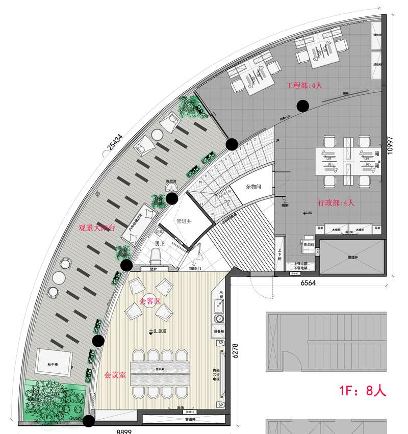 1F 平面配置图 Plan layout