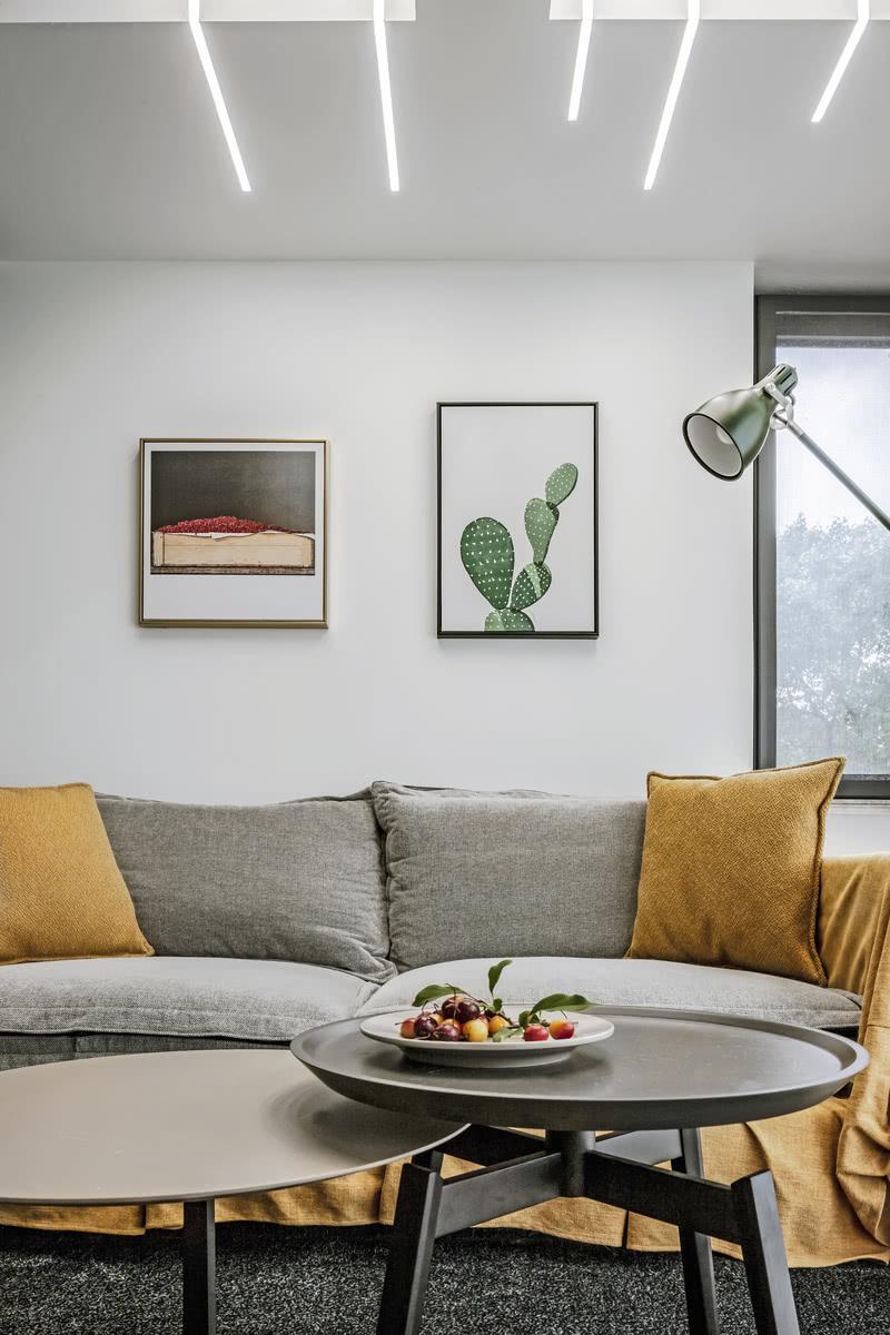 墙面的装饰画给客厅带来清新文艺的气质,让家居更加有艺术感,很赞。
