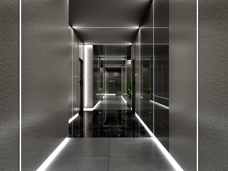 重庆电竞酒店设计过道效果图