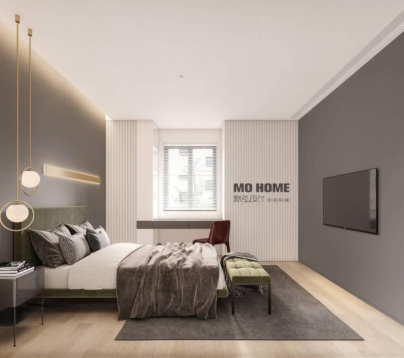 舒适是老人房最直接的需求,利用色彩、光影渲染空间恬逸的质感和氛围,给父母带来深层次的安居体验。
