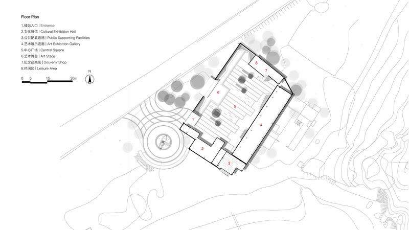 平面图,Floor plan ©DAZ大至设计