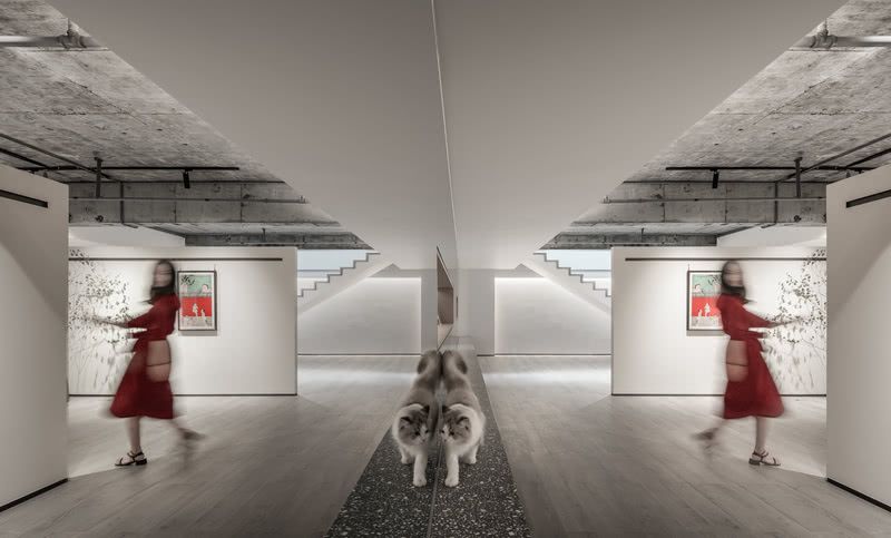 正如它的美学主张所言,will&would企图通过展厅的设计探讨这样一种关系——人与物如何在空间中建立起联系,以及,物义如何被人办公,展厅,画廊…当空间被冠以多重属性,设计师决意以模糊重构,再经由模糊,将多重的空间属性集合交织,形成聚场。  在模糊聚场,设计师赋予存在空间更多的可能性和言有尽意无穷的美感,而背后所关联并一以贯之的审美和空间理念,却清晰而明确