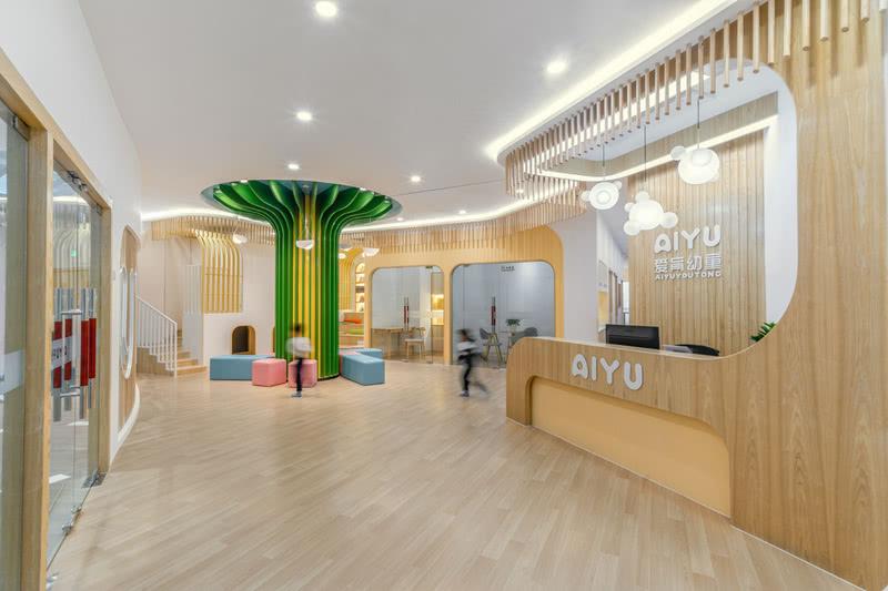 开普俊梦儿童空间设计——爱育幼童设计 大厅设计