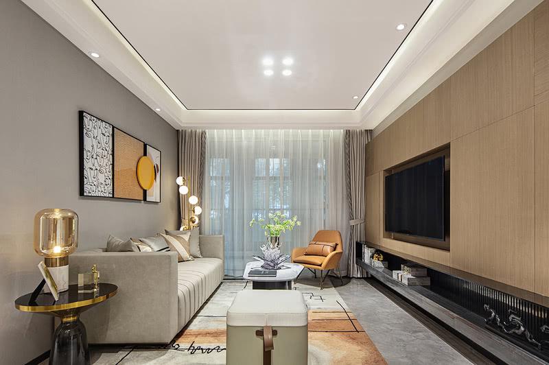 家具上高品质的皮质与时尚的金属搭配,使空间充满轻奢又年轻时尚的气质;