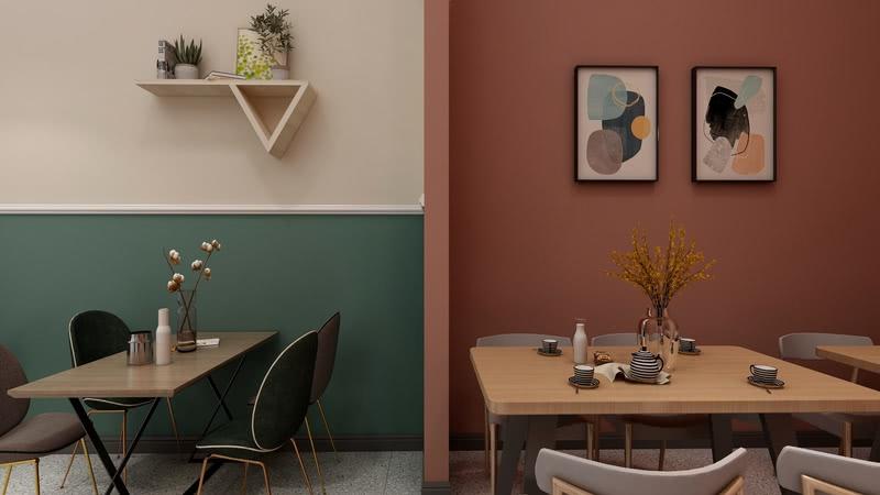 采用撞色设计,让空间更具层次感