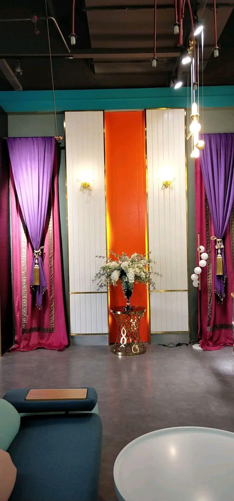 软装家具布艺背景墙展示