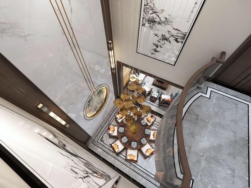 木色系的硬装空间基调,搭配东方气质的家具组合,流露出写意之美,简雅而素淡,给人带来一种宁静雅致的视觉感受。