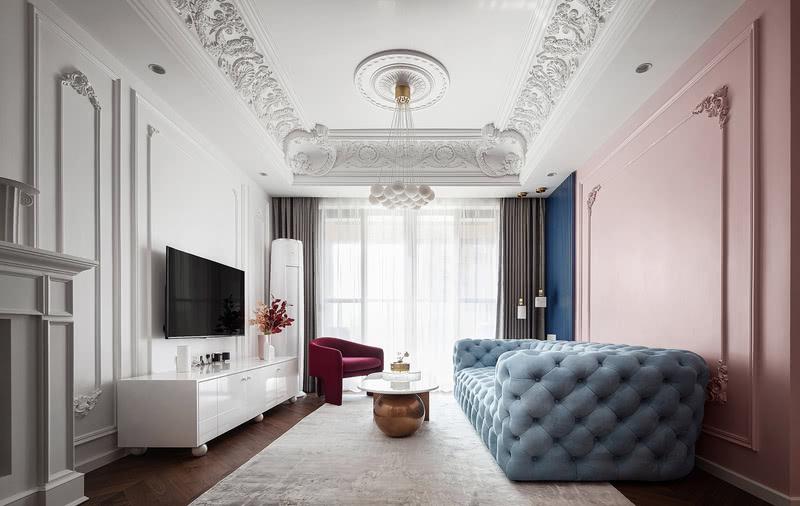 法式风格的优雅、浪漫、宫廷感深入人心、经久不衰,与现代时尚的轻奢风相遇后,则凝结成一种文艺典雅、与众不同的空间意境。