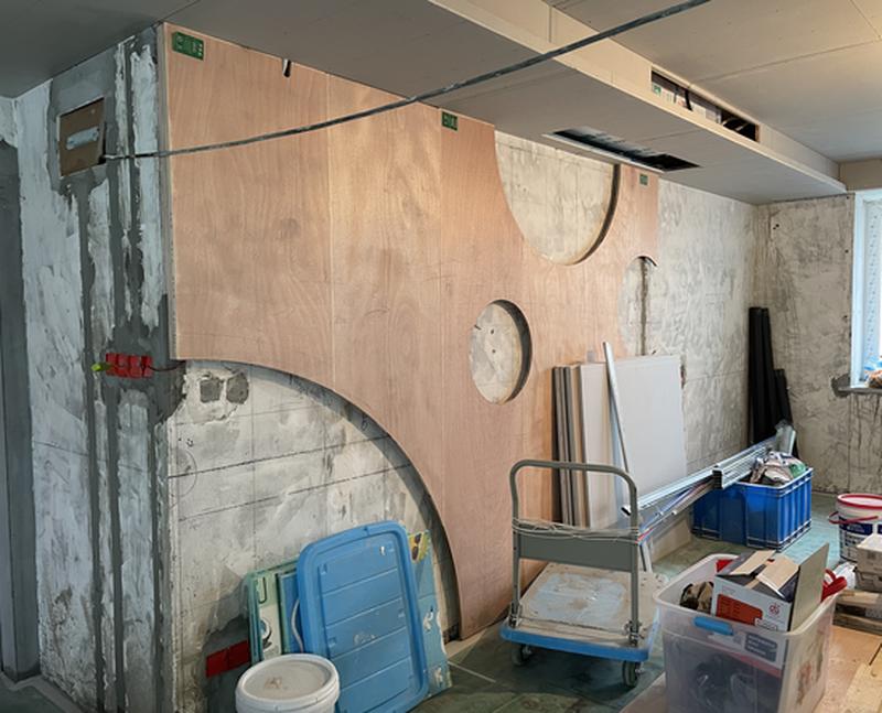 沙发背景墙施工过程