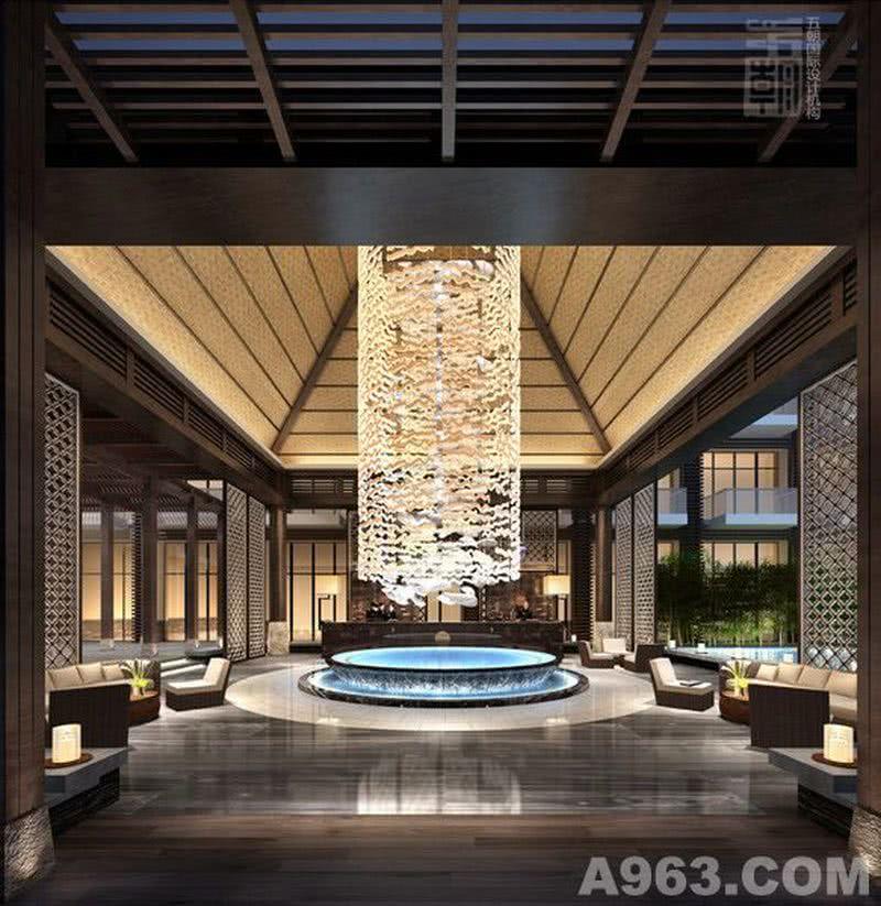酒店设计-泉月山庄度假酒店-大堂