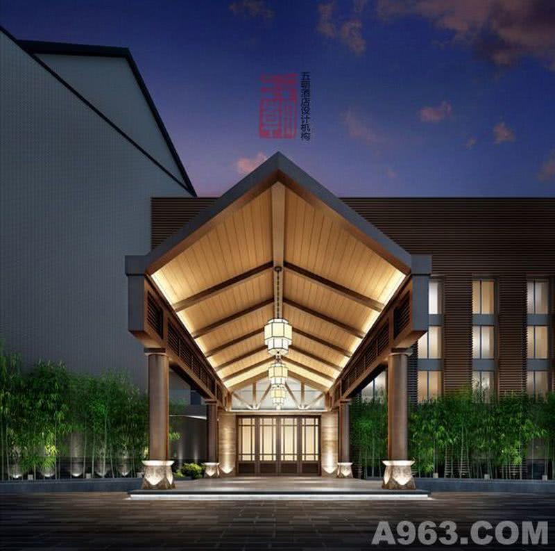 酒店设计-泉月山庄度假酒店-主入口