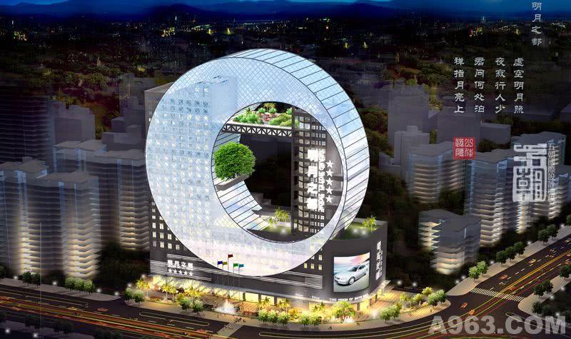 酒店设计公司-FDD五朝国际酒店设计机构 周青设计作品-宜春明月之都大酒店外观