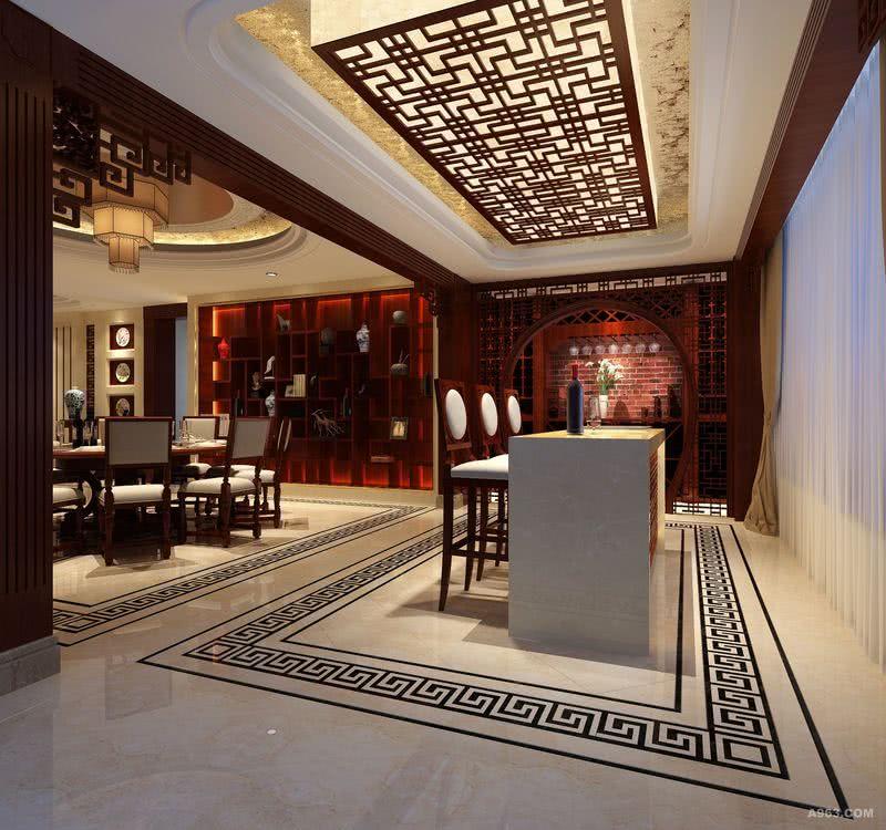 李天龙作品:华侨城纯水岸9期奢华新中式设计