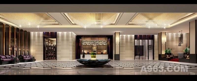 大堂一 在酒店的大堂设计中,设计师运用了经过艺术手法简化了弧型的吊顶,这些建筑典型样式元素。并在不同空间的门、使用镂空雕刻,华丽考 究;雕花形式上以几何或植物纹样为主。这些元素不仅在不着痕迹的表露出酒店的地域特点,同时也营造出的神秘色彩。