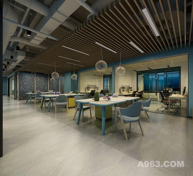 二层开放办公区